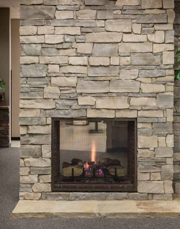 Stone Veneer Fireplace : Manufactured stone veneer kansas city thin cut natural