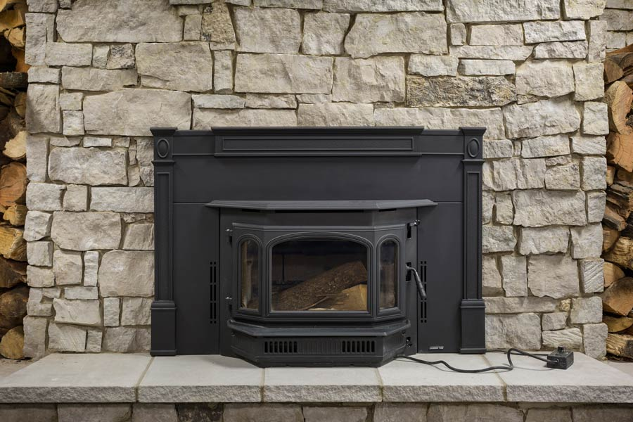 stone veneer for fireplaces. quadra fire 4100i wood burning insert with cast surround shown tablerock  stone sky high natural veneer Manufactured Stone Veneer Kansas City Thin Cut Natural