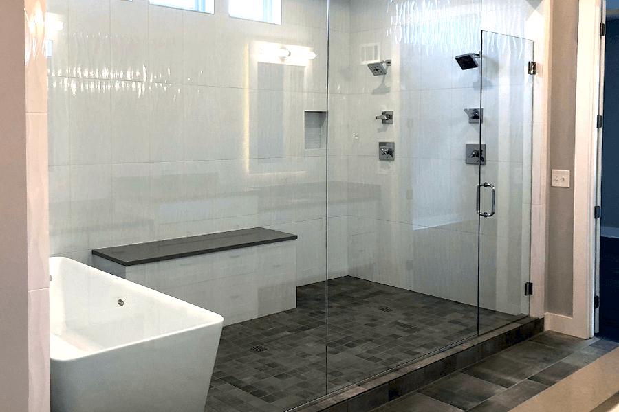 Modern Glass Showers Call for Custom Glass