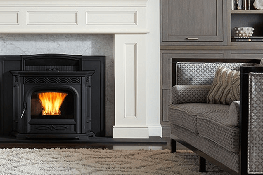 Pellet Stove Inserts Turn Drafty Fireplaces into Heaters